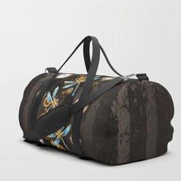 Steampunk Dragonflies Duffle Bag