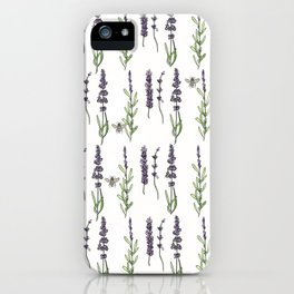 Lavender & bees iPhone Case