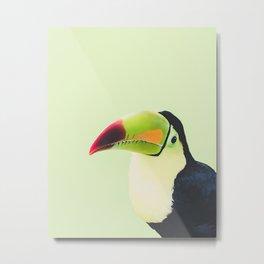 Toucan Do It! - lime Metal Print