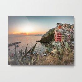 riomaggiore village in italy Metal Print