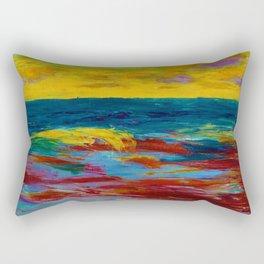 'A New England Coastal Sunset' landscape painting by Emil Nolde Rectangular Pillow
