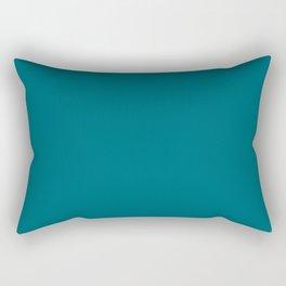 Solid Teal  Rectangular Pillow
