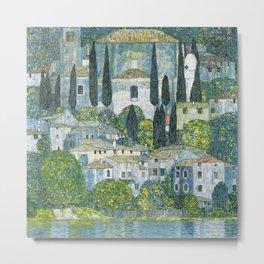 Gustav Klimt - Church in Cassone Metal Print