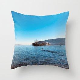 Italian island, Borromeo islands, italian lakes, lake fine art, fisherman's island Throw Pillow