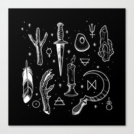 Accoutrements BLACK Canvas Print