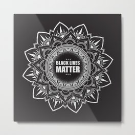 Donating all sales to For The Gworls, supporting Black Trans Folks. Black Lives Matter. Metal Print