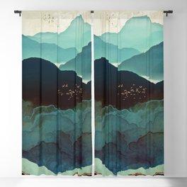 Indigo Mountains Blackout Curtain