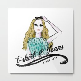 t-shirt&jeans Metal Print