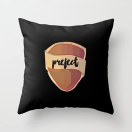Prefect Griffin Badge Watercolor Throw Pillow