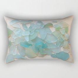 Ocean Hue Sea Glass Rectangular Pillow