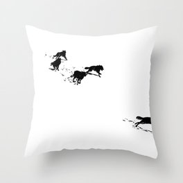 snowblinded // (wolf pack) Throw Pillow