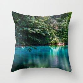 Smooth water - Blautopf Blaubeueren - Germany Throw Pillow