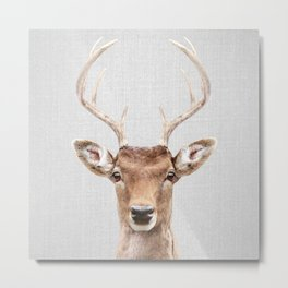 Deer 2 - Colorful Metal Print