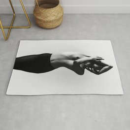 Nude dancer black and white nude photography 2010 Rug