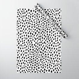 Dalmatian Spots (black/white) Wrapping Paper