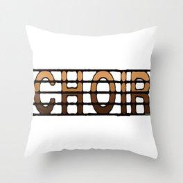 Choir in Luscious Browns Throw Pillow