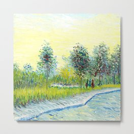 St. Pierre Square at Sunset by Vincent Van Gogh Metal Print
