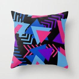 80s Memphis Pattern Throw Pillow
