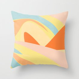 The Dunes - Abstract Landscape Throw Pillow