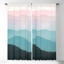 Smoky Mountain National Park Sunset Layers III - Nature Photography Blackout Curtain