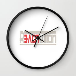 This is the awesome revolutionary Tshirt Those who make peaceful revolution LOVE REVOLUTION Wall Clock