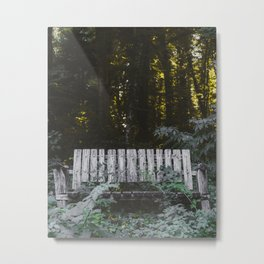 A comfortable sitting on nature Metal Print