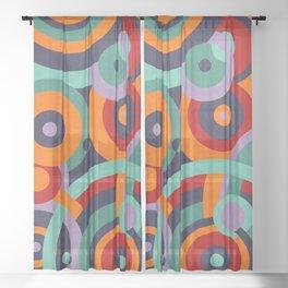 Colorful circles II Sheer Curtain