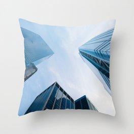 Skycrapper in New York Throw Pillow