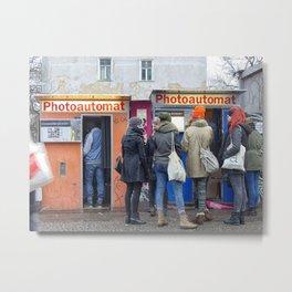 Old photo booth in Berlin Metal Print
