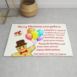 Merry Christmas everywhere Rug