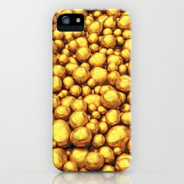 Raw gold iPhone Case
