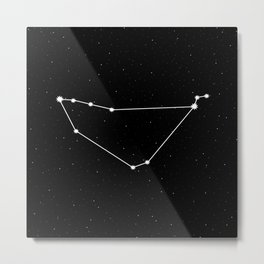 Capricorn Star Sign Night Sky Metal Print