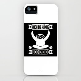 Sloth Party iPhone Case
