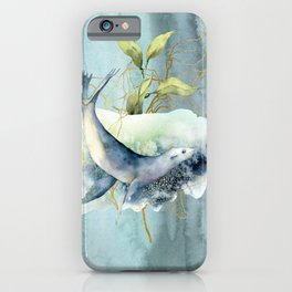 Watercolor Under Sea Collection: Seal iPhone Case