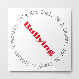Stop Bullying-Outline Metal Print