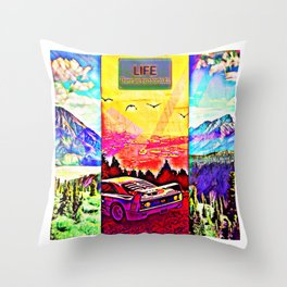 Life, there are no shortcuts Throw Pillow