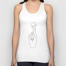 Fingers Crossed Unisex Tank Top