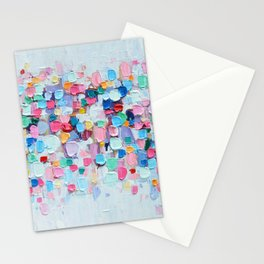Rainbow Confetti Stationery Cards