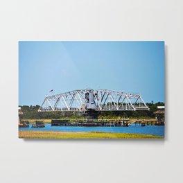Figure Eight Island Bridge Metal Print