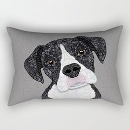 Black & White Boxer Rectangular Pillow