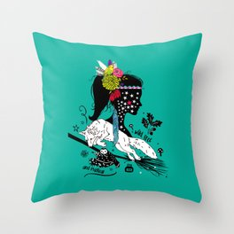 Wild, free and magical Throw Pillow