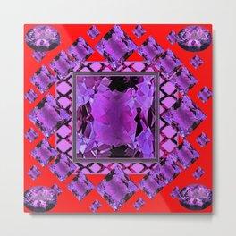 RED PURPLE AMETHYST FEBRUARY GEM BIRTHSTONE MODERN ART Metal Print