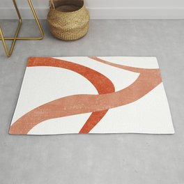 Terracotta Art Print 6 - Terracotta Abstract - Modern, Minimal, Contemporary Print - Burnt Orange Rug