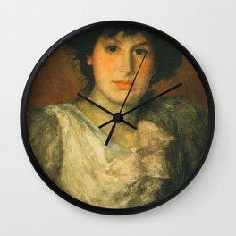 James Abbott McNeill Whistler - Miss Lillian Woakes Wall Clock