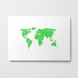Environment Concept World Map Illustration Metal Print