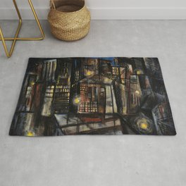 Classical African-American Masterpiece 'Harlem at Midnight' by Charles Alston Rug