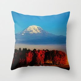 Cascade Mountains Autumn Foliage Landscape by Jeanpaul Ferro Throw Pillow