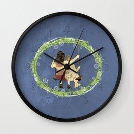 Sisters on swing Wall Clock