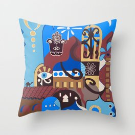 Camel on the Roof Throw Pillow
