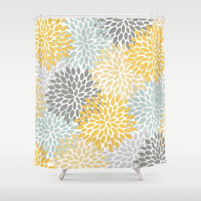 Fl Pattern Yellow Pale Aqua